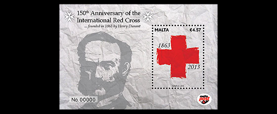 150th Ann of the International Red Cross Miniature Sheet