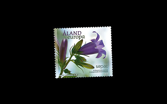 Bellflower on 2014 Sepac Stamp SI
