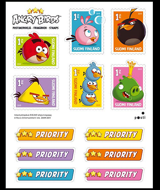 Angry Birds Miniature Sheet