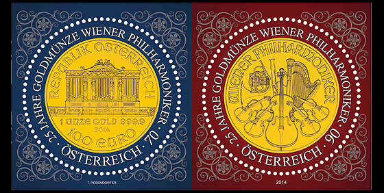 25 Years of the Vienna Philharmonic Gold Coin Set