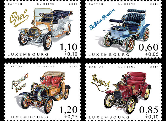 Charity Stamps (Cars of Yesteryears) Set