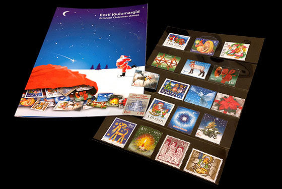 Estonian Christmas Stamps (1996-2004) Collectibles