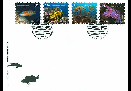 Croatian Undersea World First Day Cover
