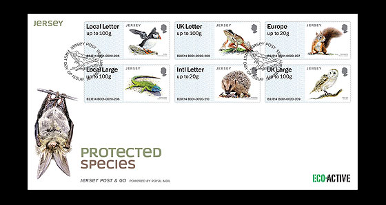Jersey Protected Species First Day Cover