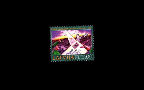 150th Ann. of first Latvian stamp -2013 SI