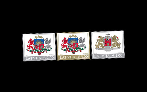 Latvian County & City Coat of Arms (Standard) 2015 SI