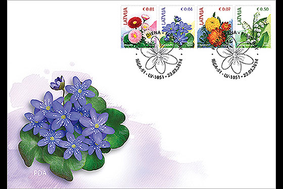 Flowers (2nd Edition) 2014 First Day Cover