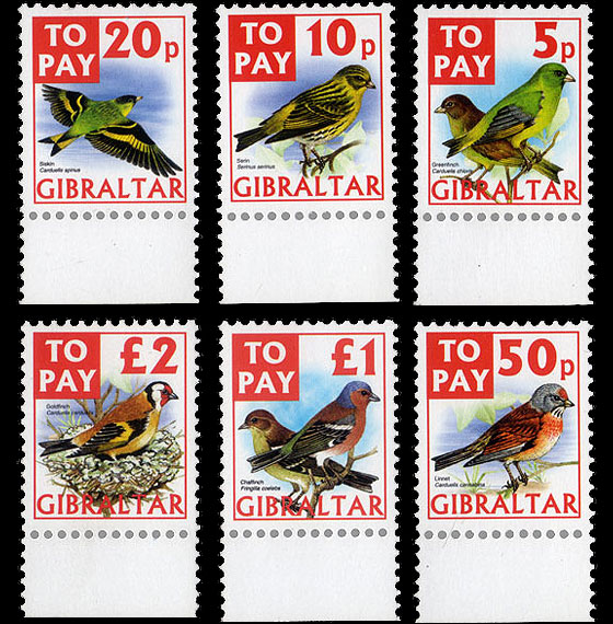 To Pay Labels 2002 - Birds Set