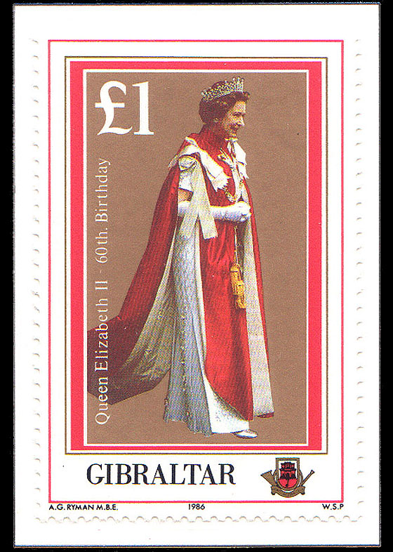 1986 Queen Elizabeth II 60th (catalogue price) Set