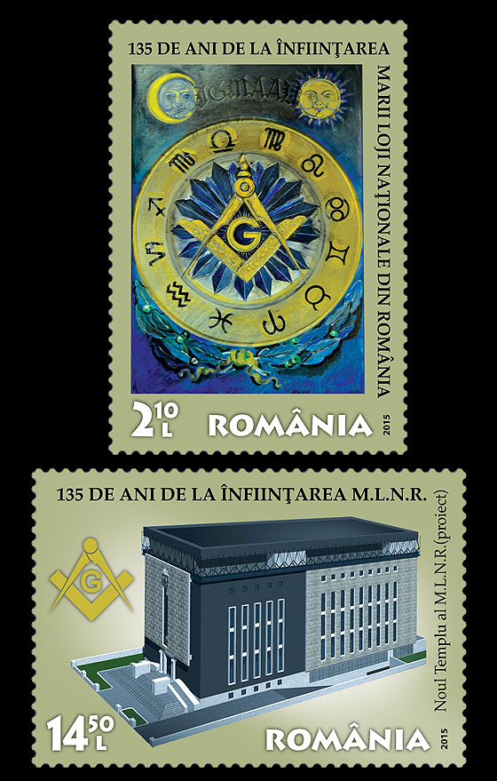 135 years The National Grand Lodge of Romania Set