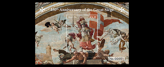 450th Anniversary of the Great Siege Miniature Sheet