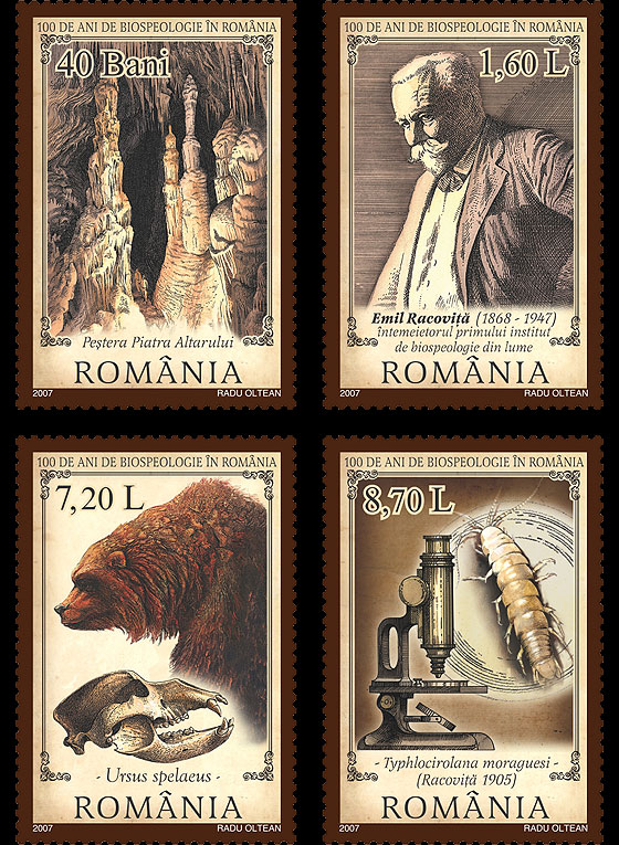 100 years since the foundation of biospeleology by the Romanian scientist Emil Racovita Set