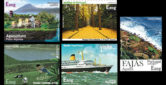 Azores Self-Adhesive Stamps Set