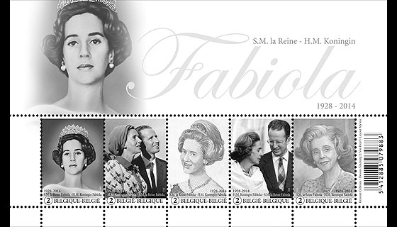 Commemoration H.M. Queen Fabiola Miniature Sheet
