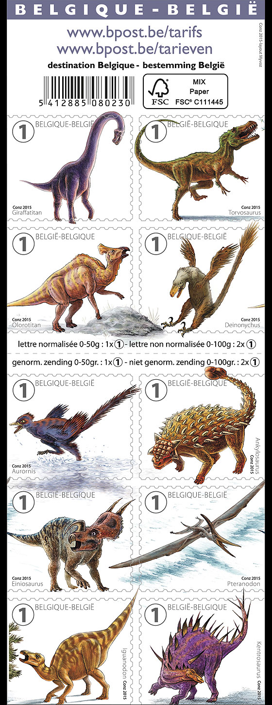 Mighty Dinosaurs Stamp Booklet