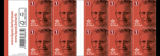 Royal portrait King Philippe 1 national Stamp Booklet