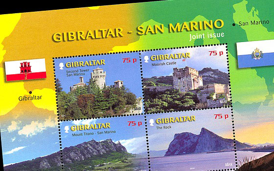 Joint Issue Gibraltar - San Marino SI