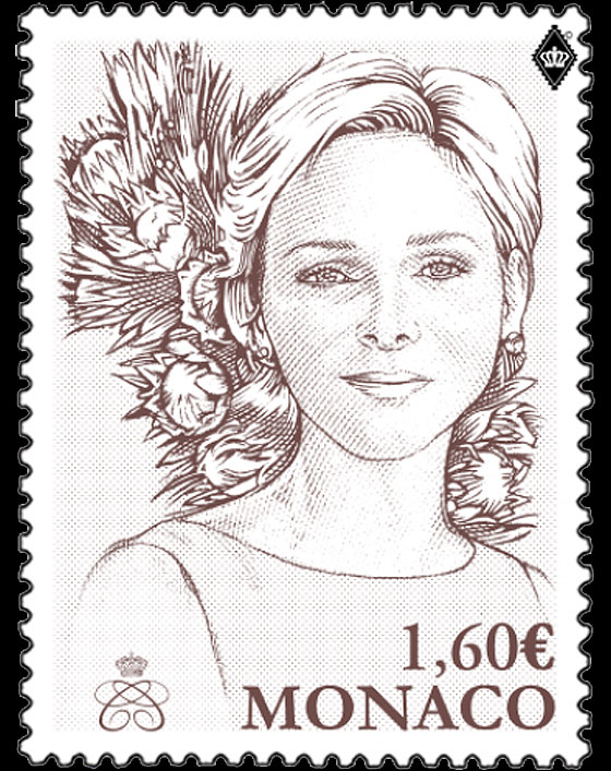H.S.H Princess Charlene of Monaco- (Stamp Mint) Set