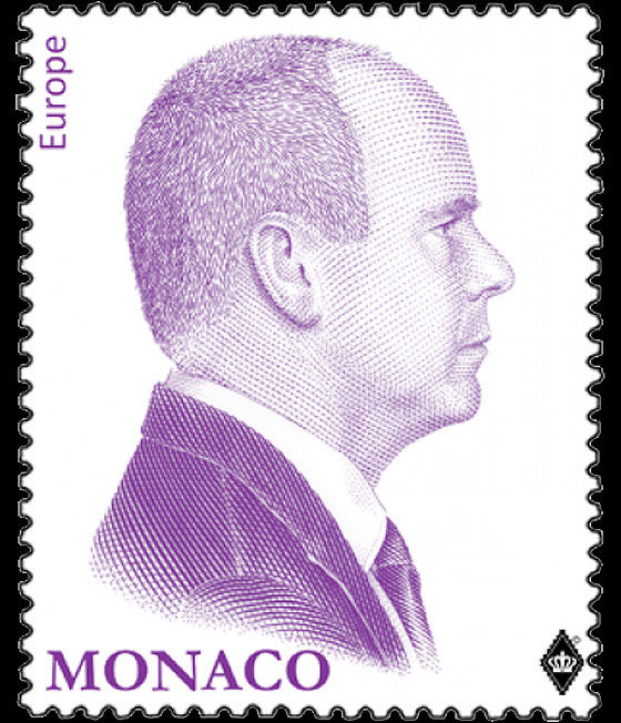 RePrint of the Purple Effigy of H.S.H Prince Albert II- (Stamp Mint) Set