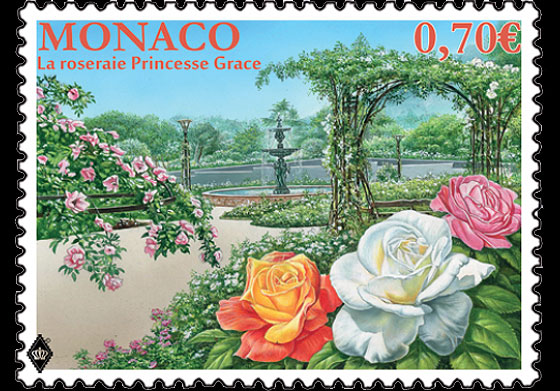 The Princess Grace Rose Garden- (Stamp Mint) Set