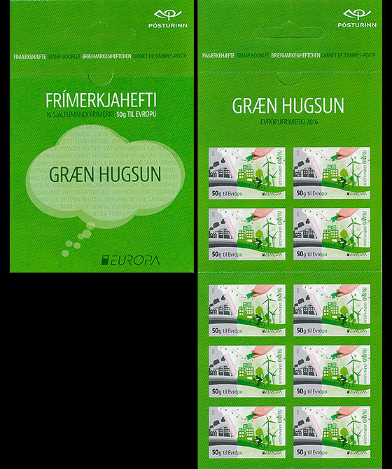 Europa 2016 - Think Green (50g to Europe) Stamp Booklet
