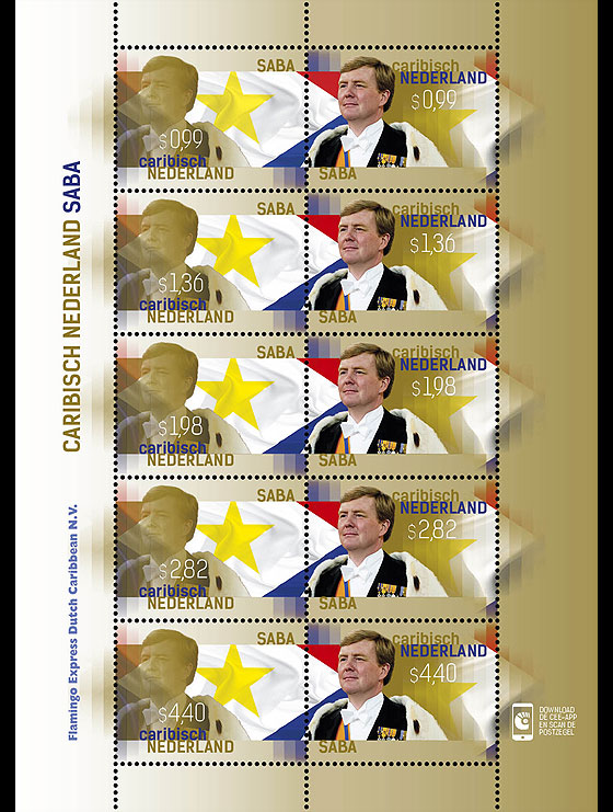 King Stamp 2015 (Saba) Sheetlets