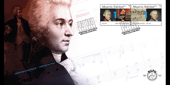 Mozart in The Netherlands 1765-1766 First Day Cover