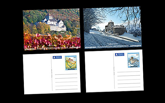 Picture Postcards Vaduz Castle in the Four Seasons - II SI