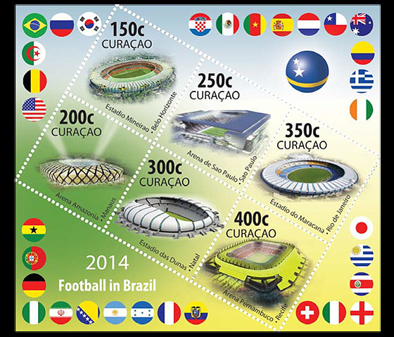 Sports: Football FIFA 2014 Brazil World Cup Souvenir Sheet