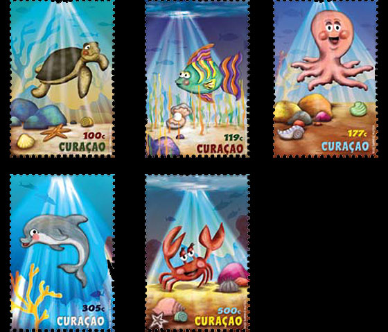 Youth Care Stamps: The Ocean Set