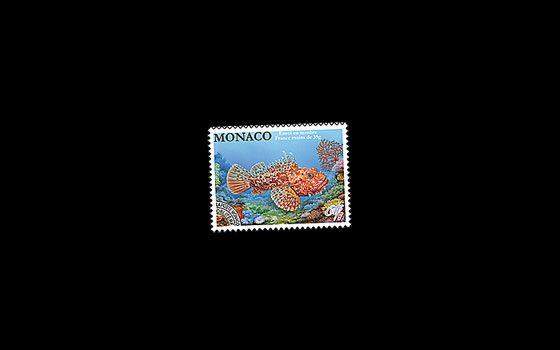 Prefranked Stamp- Red Scorpionfish SI