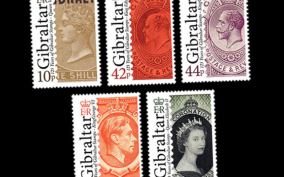 125th Ann of Gib Stamps SI