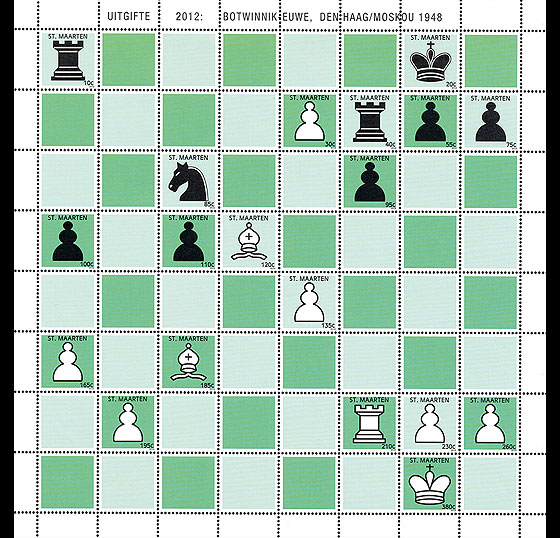 Chess Botwinik-Euwe Sheetlets