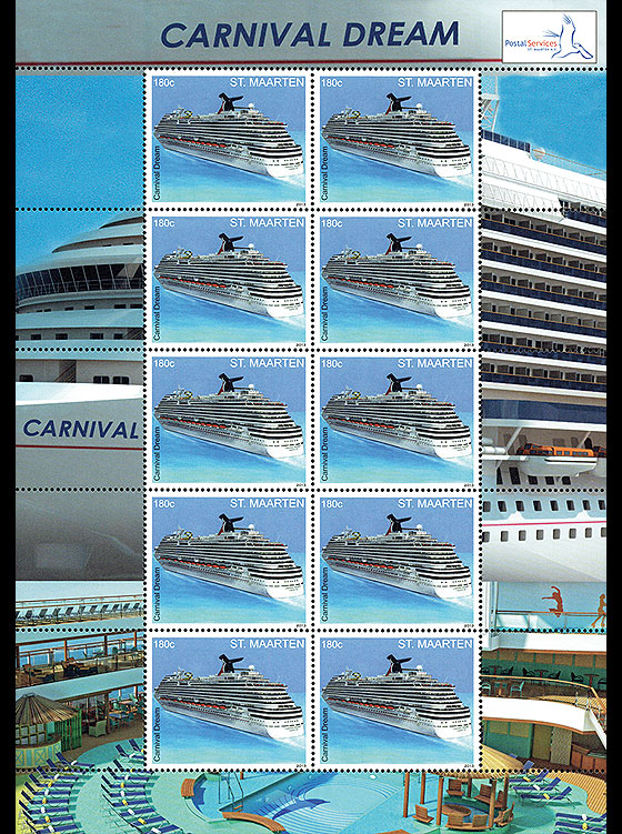 Cruise Ship - Carnival Dream Sheetlets