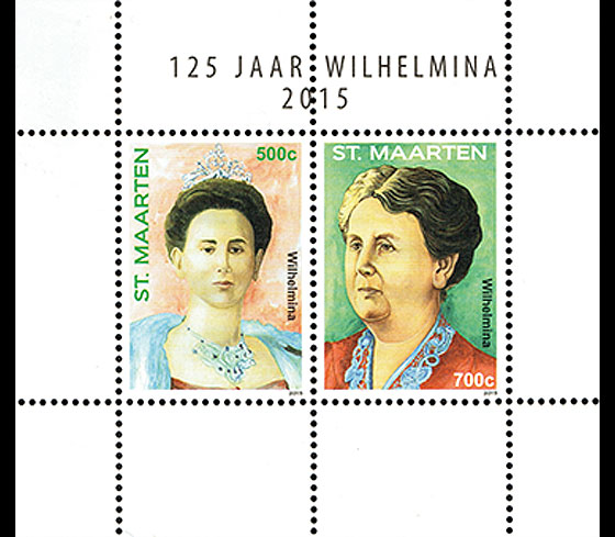125 Years Queen Wilhelmina Miniature Sheet