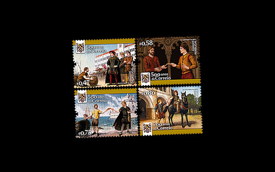 Postal Service in Portugal - 500 Years SI