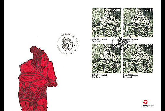Greenlandic Music - Accordion music 3/3 First Day Cover block of 4