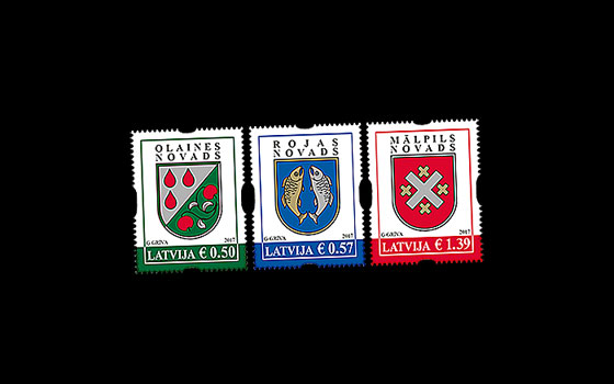 Latvian county and city coats of arms SI