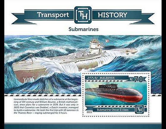 Submarine History Miniature Sheet
