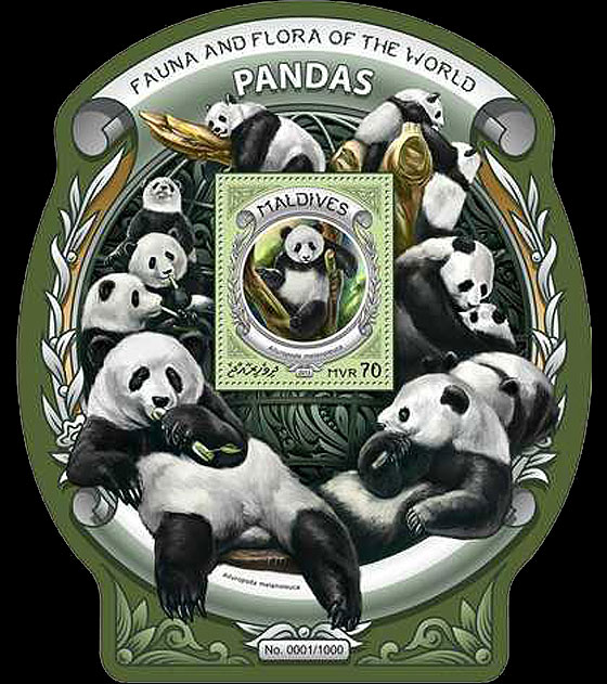 Pandas Miniature Sheet