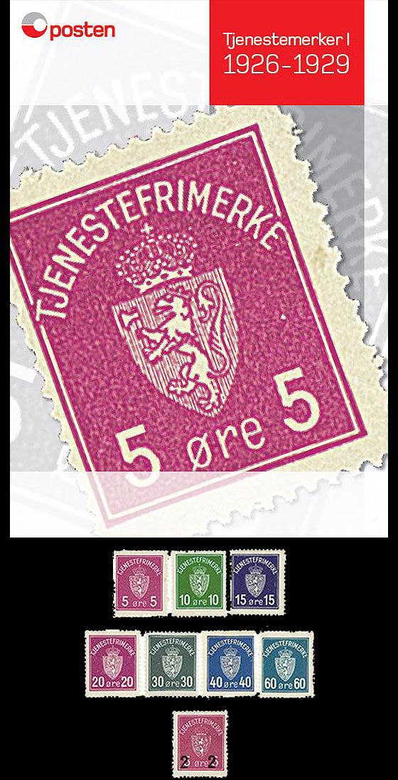 Year Collection Norwegian Official Stamps I 1926-1929 Year Collections