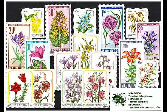 Thematic Stamp Sets- Flowers II  Collectibles