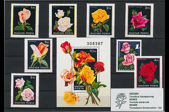 Thematic Stamp Sets- Roses  Collectibles