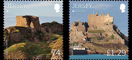 Europa 2017- Castles and Forts- (74p & £1.29 Stamp Europa) Set