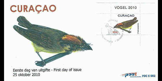 Birds - Curaçao 2010 First Day Cover