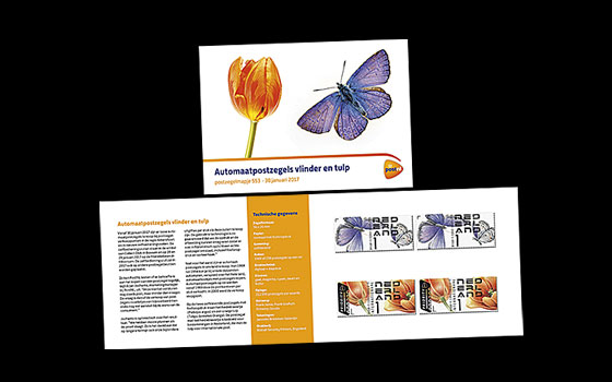 Tulip and Butterfly Stamp Booklet