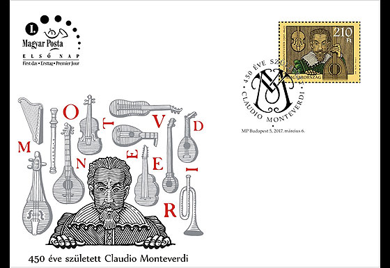 Claudio Monteverdi was born 450 years ago First Day Cover