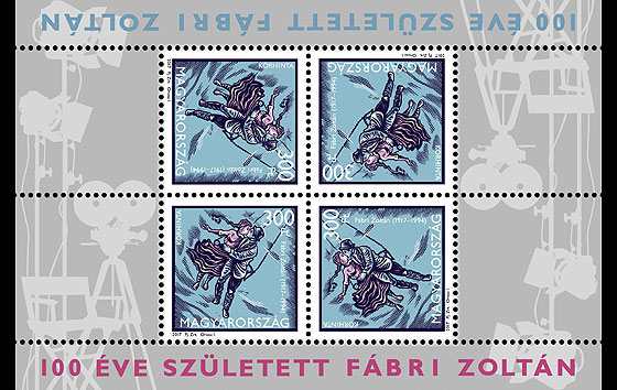 Zoltán Fábri was born 100 years ago Miniature Sheet