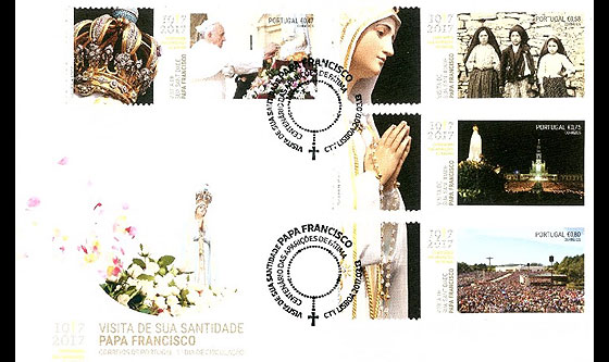 His Holiness Francis at the Celebration of Fátima First Day Cover