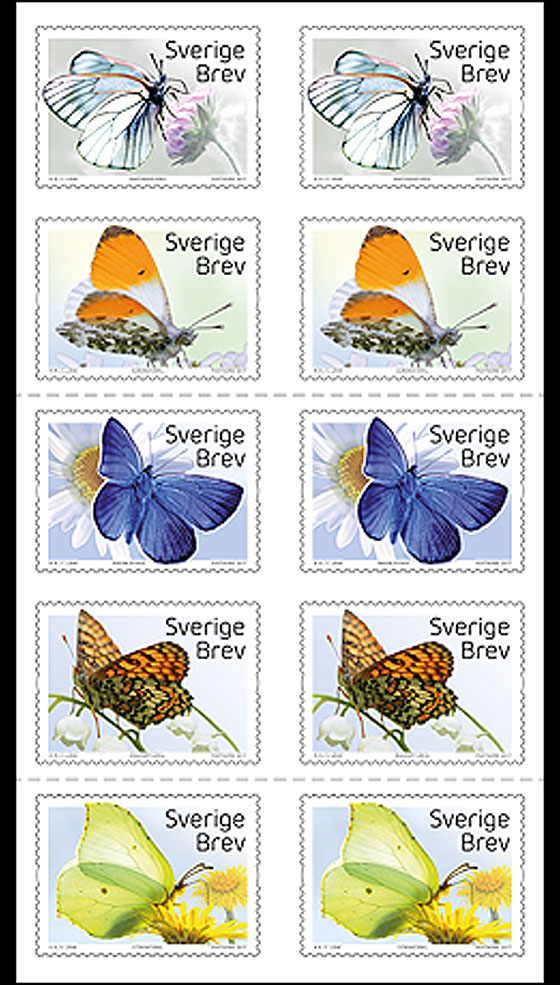 Butterflies Stamp Booklet